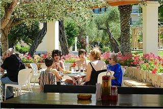 Hotel Delfinia Hotels Corfu Terasse