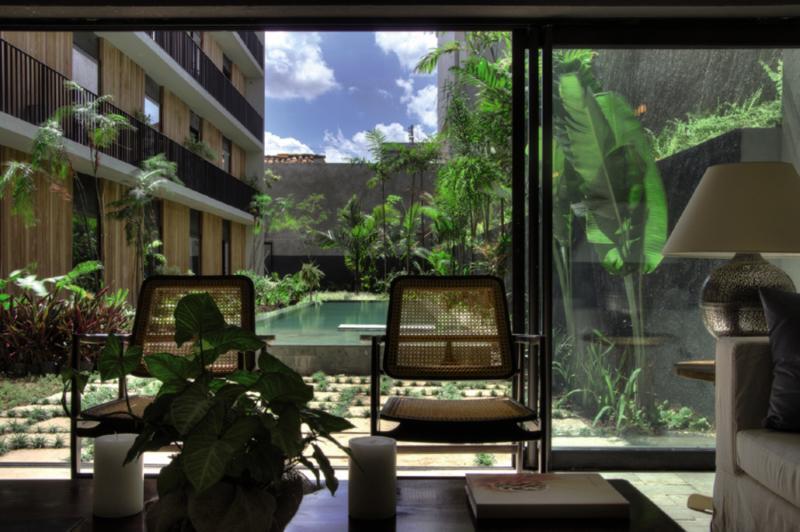 Hotel Villa Amazonia Terrasse