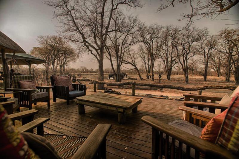 Hyena Pan Tented Camp Terrasse