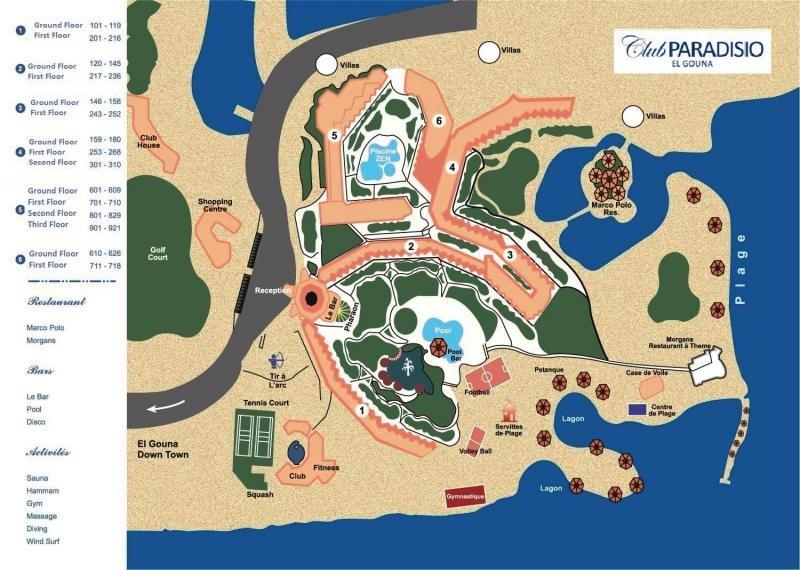 LABRANDA Club Paradisio El Gouna Landkarte
