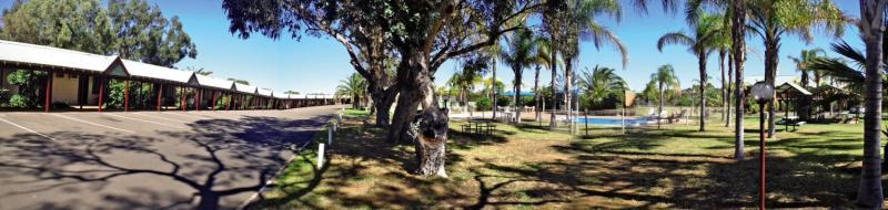 Kalbarri Palm Resort Terrasse