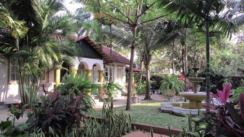 Casa de Goa Boutique Resort Garten
